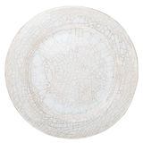 White handmade pottery plate Royalty Free Stock Images