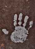 White handprint Royalty Free Stock Image