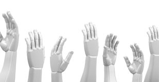 The white hands Royalty Free Stock Photo
