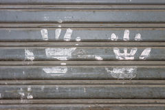 White hands print Royalty Free Stock Image