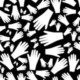 White hands seamless pattern Stock Images
