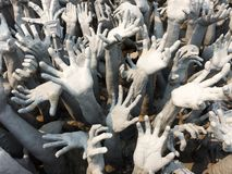 White hands stucco Stock Images