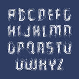White handwritten lowercase letters, vector doodle brush typescr. Ipt, hand-painted set of letters with brushstrokes Stock Images