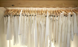 White on Hangers Royalty Free Stock Photo