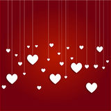 White hanging hearts Royalty Free Stock Images