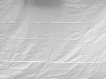 A White Hanging Plastic Sheet. Stock Photography