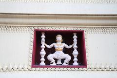 White Hanuman decorated in Thai temple Stock Images