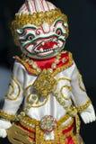 White Hanuman modèle pour la marionnette (marionnette) Images stock