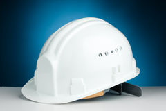 White hard hat Royalty Free Stock Image