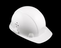 White hard hat isolated Royalty Free Stock Photography