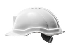 White hard hat isolated on white Stock Image