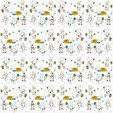 White hares pattern Stock Photo