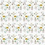 White hares pattern Stock Photo