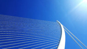 White Harp Bridge in Valencia. Perspective shot of the iconic bridge in Valencia Stock Photography