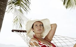 In white hat Stock Images