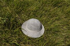 White hat abandon in the glade, Vitosha mountain. Bulgaria, Europe royalty free stock photo