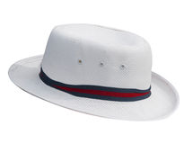 White Hat with Band Royalty Free Stock Images