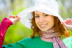White hat fit all Royalty Free Stock Photo