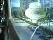 White Hat floating over Vancouver Stock Image