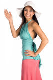 White Hat Latina Royalty Free Stock Photos