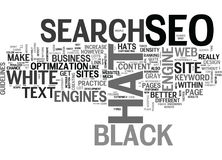White Hat Vs Black Hat Word Cloud. WHITE HAT VS BLACK HAT TEXT WORD CLOUD CONCEPT Stock Images