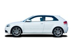 White Hatchback Stock Photography