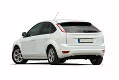 White hatchback Royalty Free Stock Photo