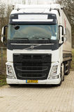 White haulage truck. Front view Royalty Free Stock Photography