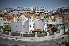 White hauses Malaga Spain Royalty Free Stock Images