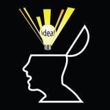 White head with idea Stock Photo