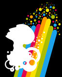 White head with rainbow Stock Photography