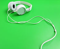 White headphone Royalty Free Stock Images