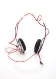 White headphone on white background Royalty Free Stock Images