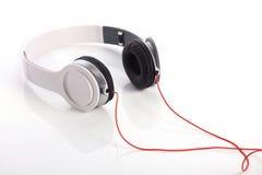 White headphone on white background Royalty Free Stock Image