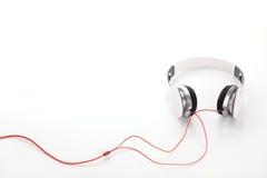 White headphone on white background Royalty Free Stock Photography