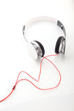 White headphone on white background Stock Photography