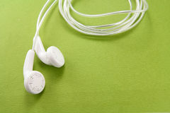 White headphones Royalty Free Stock Photography