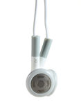 White Headphones with clipping path Stock Photography