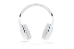 White headphones isolated Stock Photo