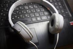 White headphones photo Stock Photo