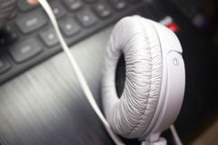 White headphones photo Royalty Free Stock Image