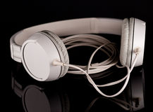 White headphones Stock Photos