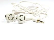 White headphones on white background Royalty Free Stock Image