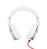 White Headphones on a white background Stock Photo