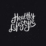 White Healthy Lifestyle Phrase on Abstract Black Stock Images