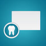 White healthy teeth and advertisement board Stock Photo