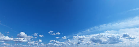 White heap clouds in the blue sky. Royalty Free Stock Photography