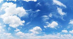 White heap clouds in the blue sky. Stock Photo