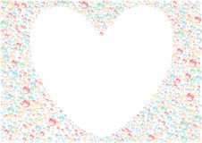 White_heart Immagine Stock