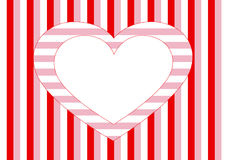 Free White Heart And Different Stripes Stock Photography - 7968162